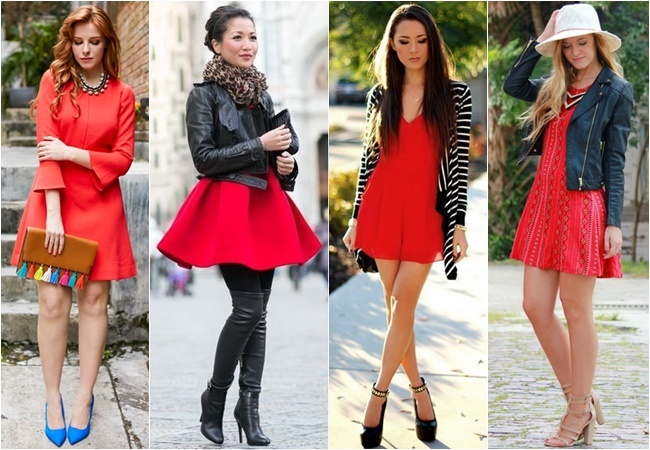 comment porter une robe rouge au printemps