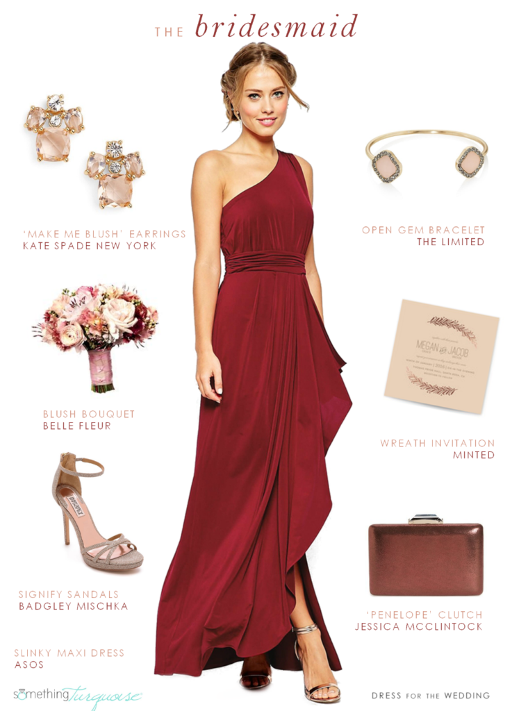 accessoires robe rouge mariage