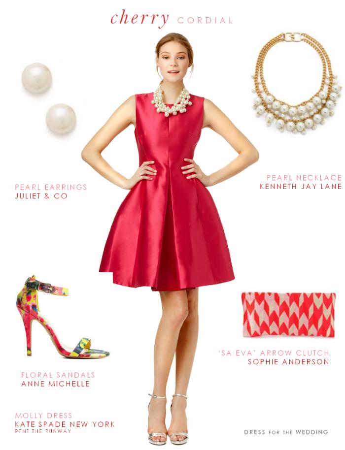 tenue de mariage avec robe rouge