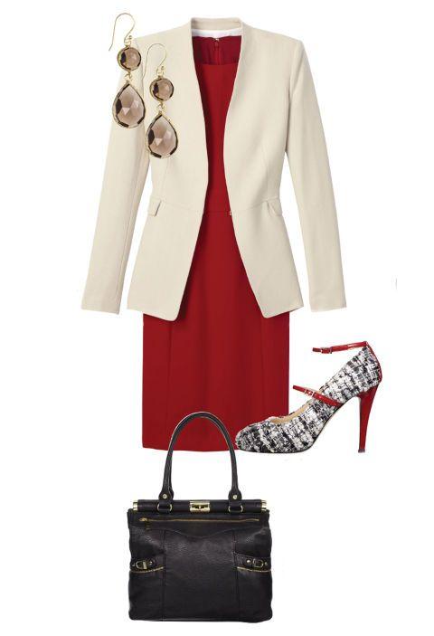 robe rouge pour le bureau