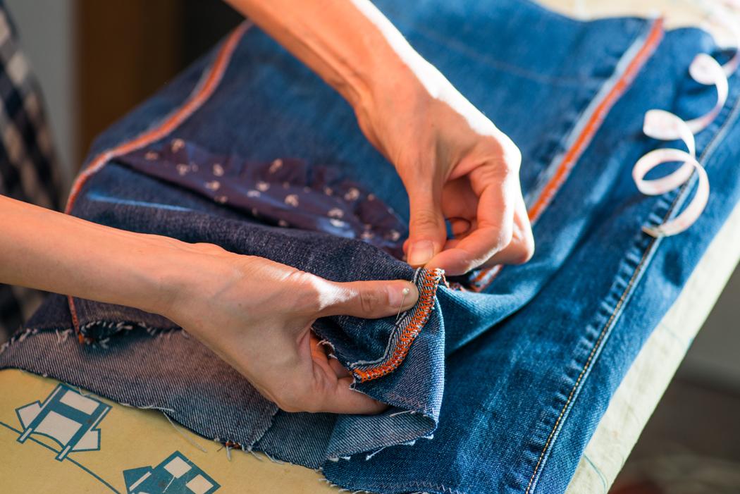 comment coudre du jean