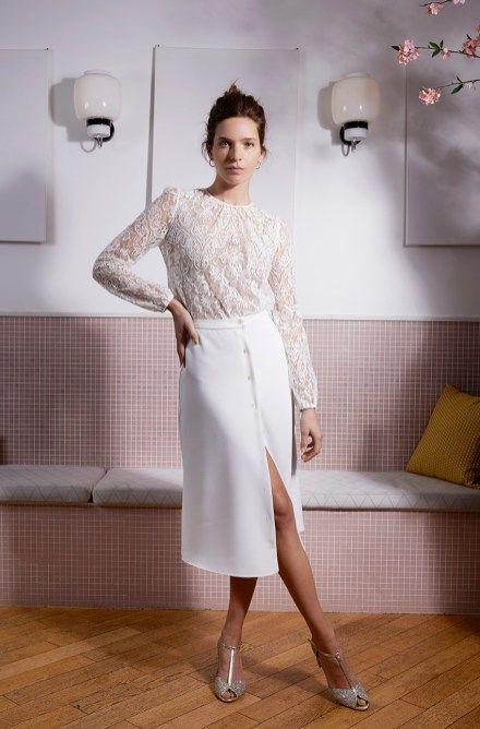 tailleur jupe mariée