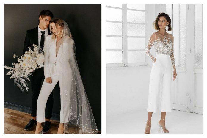 Le tailleur femme de mariée la nouvelle tendance
