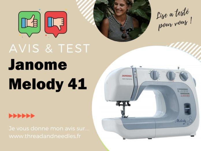 Test et avis de la Janome melody 41