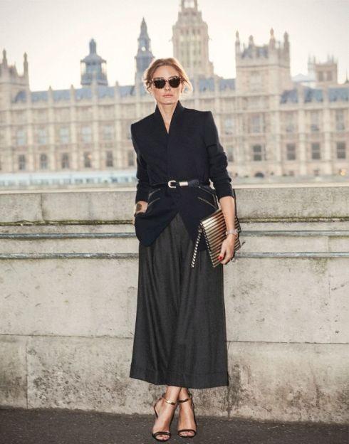 look jupe longue noire