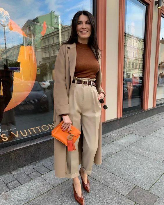 pantalon carotte look