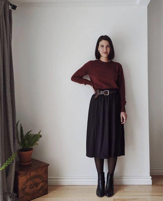 porter jupe longue noire