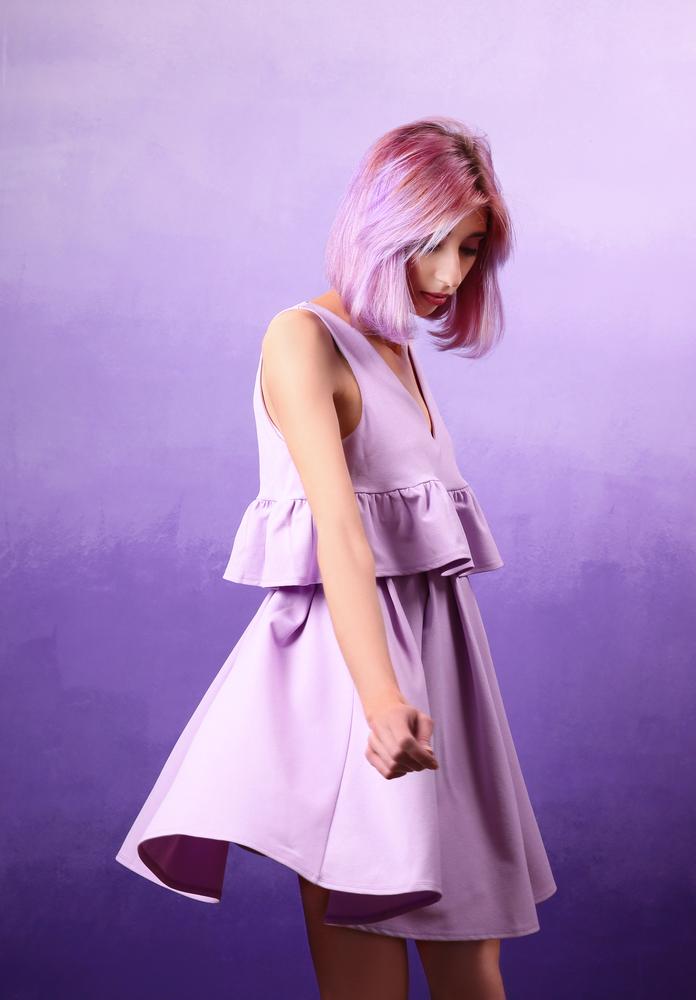 robe violette femme