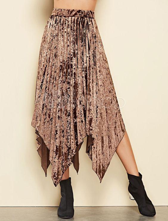 jupe longue bohème asymétrique