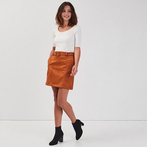 jupe taille haute trapèze