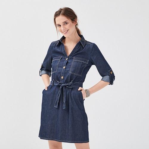 robe jean droite