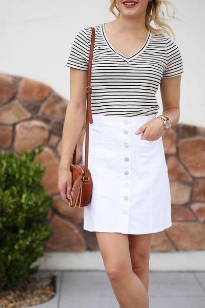 jupe blanche jean