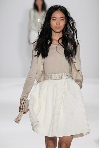 porter jupe blanche