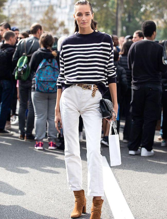 jeans blanc femme