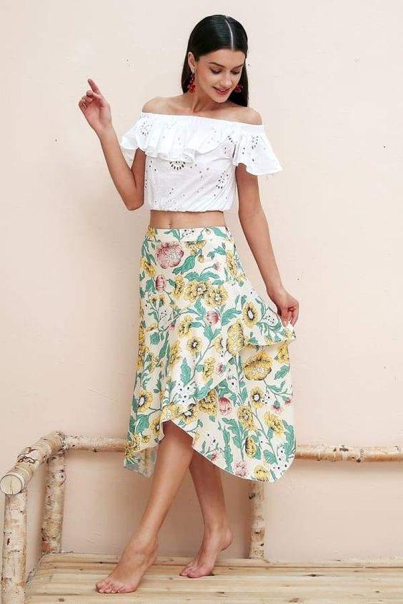 La jupe longue asymétrique