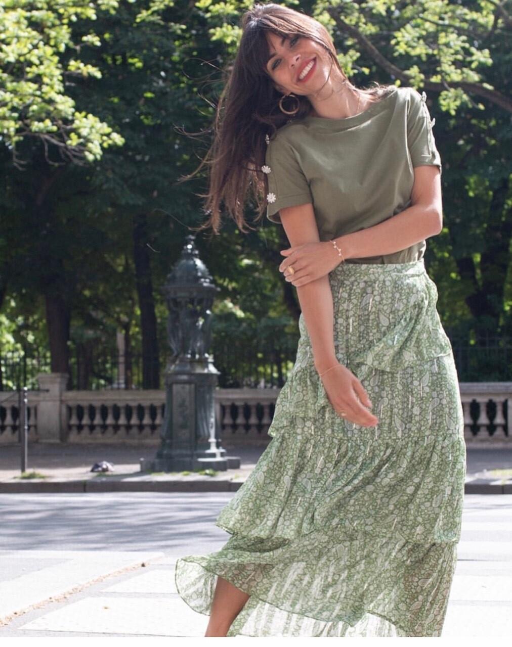 jupe longue fleurie
