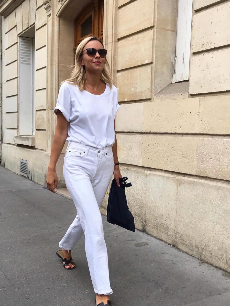 le jeans blanc femme